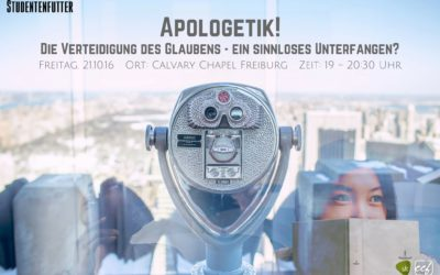 Studentenfutter 3/2016 – Apologetik: Die Verteidigung des Glaubens – Ein sinnloses Unterfangen?